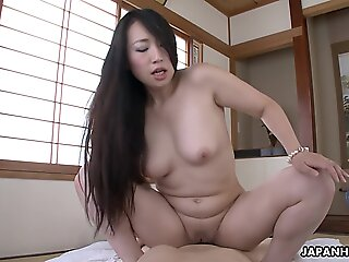 sex , pov , brunette , japanese , asian , mature , uncensored