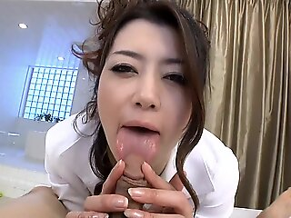 pov , milf , brunette , creampie , japanese , asian , uncensored